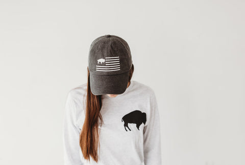 "Black Buffalo Flag ""dad hat"" * TOP SELLER*"
