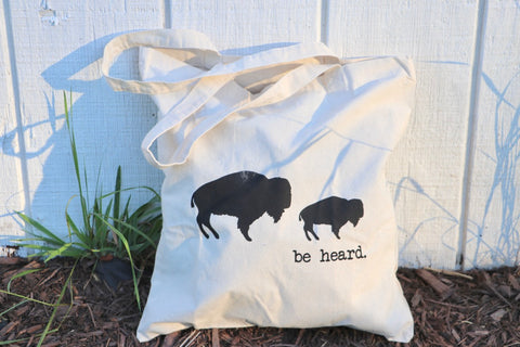 Be Heard small canvas tote bag