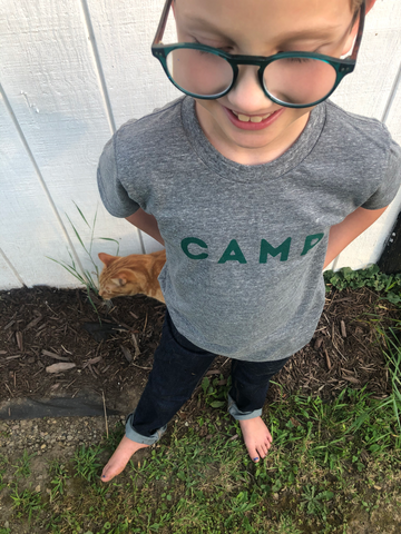 Grey Toddler Camp Tee