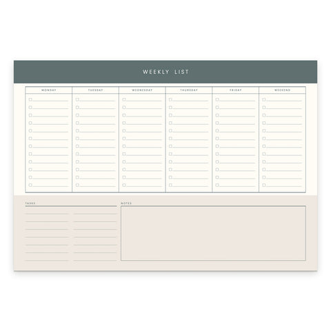 Weekly List Desk Pad