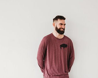 Maroon Buffalo Long Sleeve Shirt