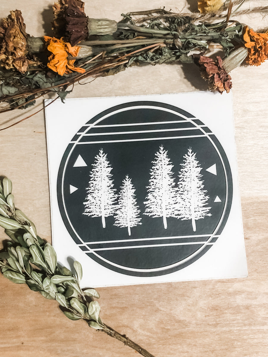 Adventure tree sticker
