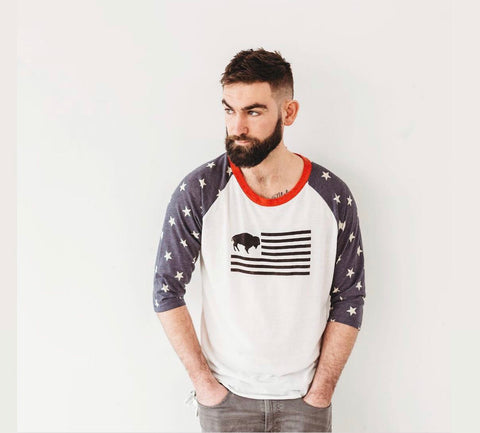 Star and stripe buffalo tee shirt