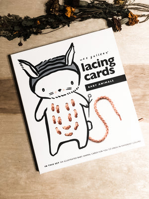 Set of lacing cards