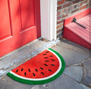 Watermelon welcome rug