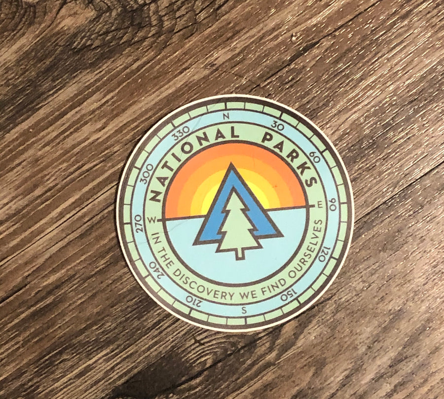 National parks sticker
