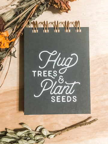Hug trees mini jot notebook