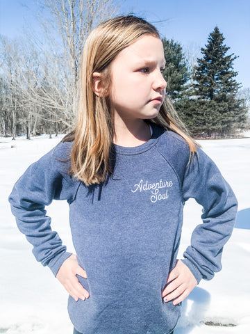 Adventure soul navy youth sweatshirt
