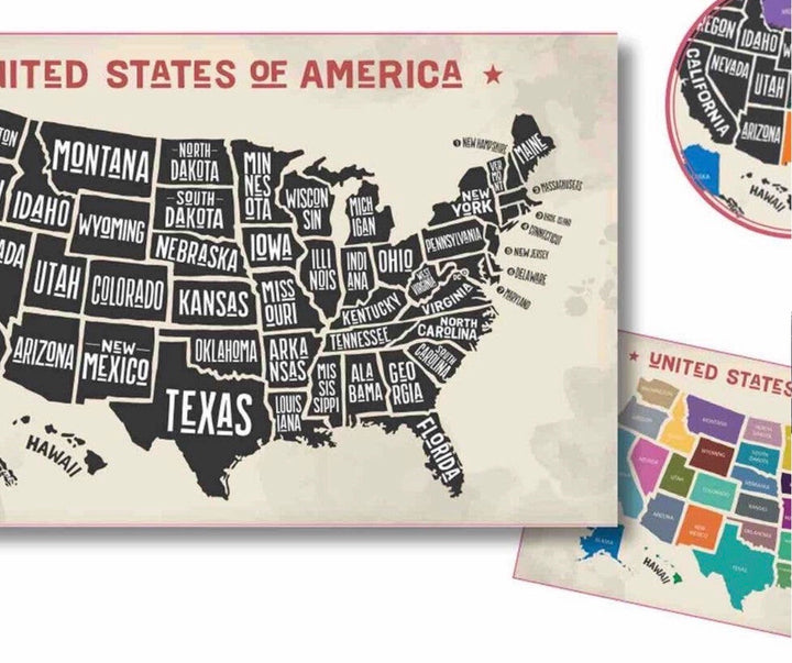 Scratch off map of USA