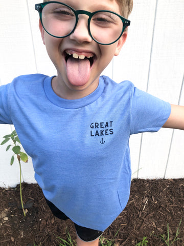 Great Lakes blue toddler/ youth tee