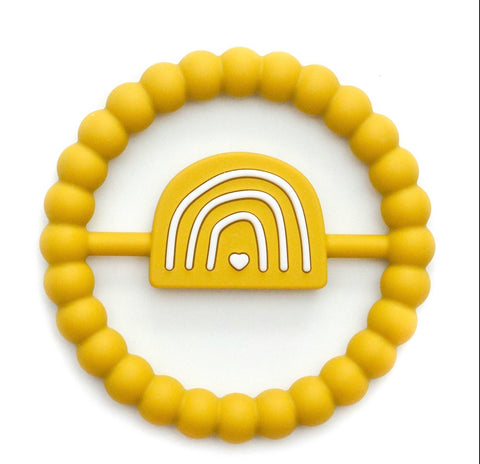 Sunshine rainbow silicone teether