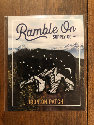 Wild bear iron on patch