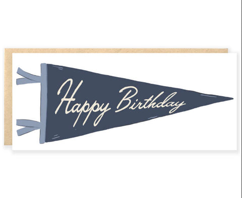 Happy birthday pennant card