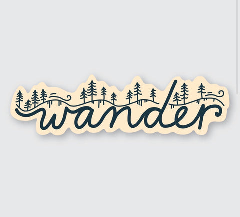 Wander sticker