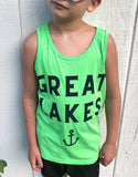 Youth neon green tank