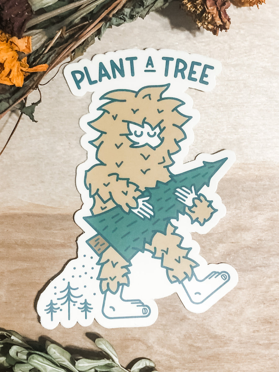 Plant a tree waterproof sticker