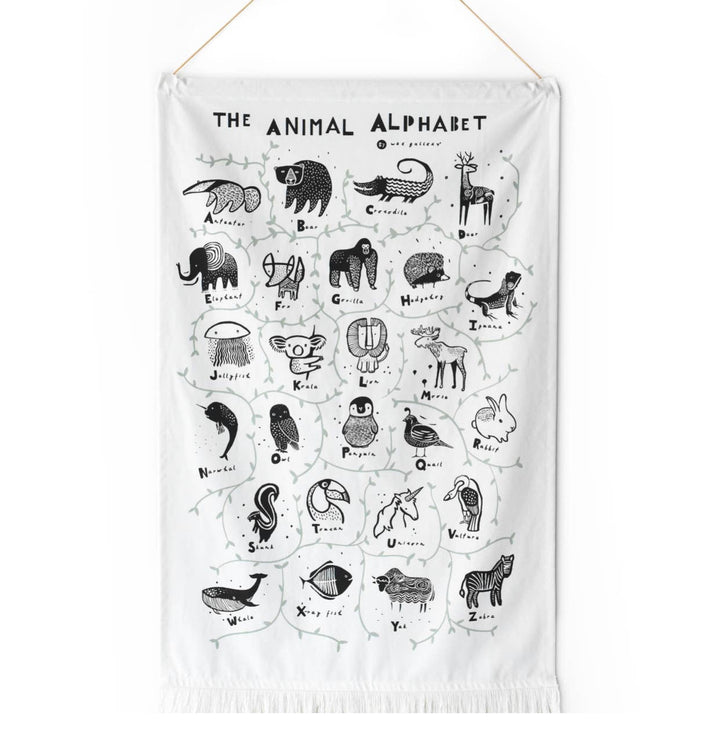 Alphabet Animal ABC wall tapestry