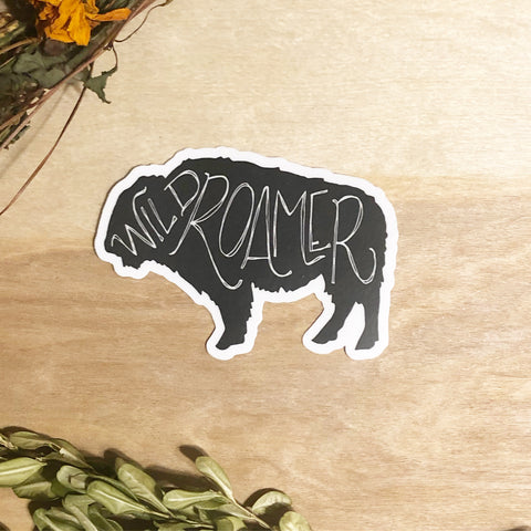 Wild roamer buffalo waterproof stickers
