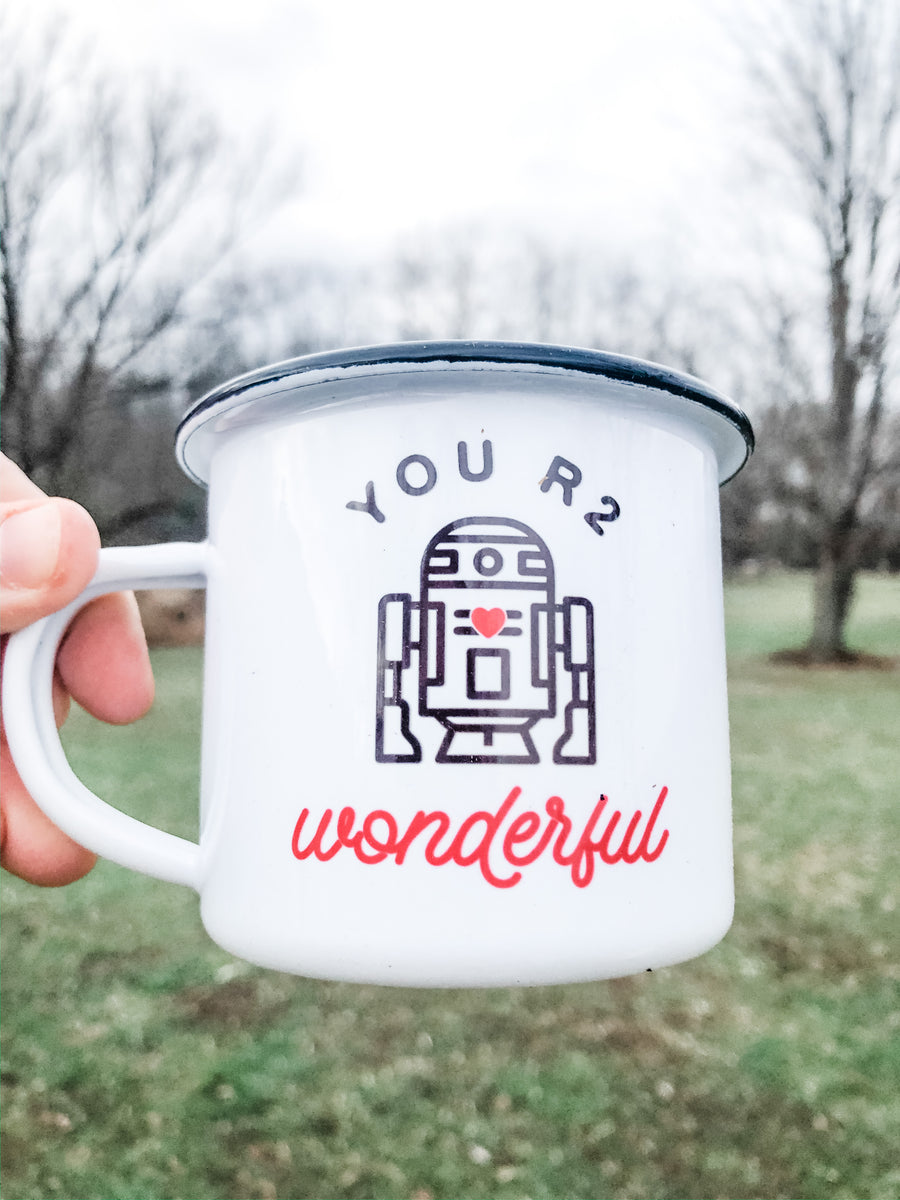 R2D2 wonderful enamel mug