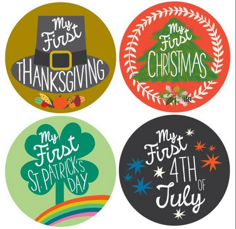 My first holiday sticker set