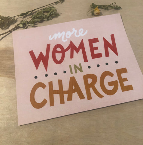 More women in charge print