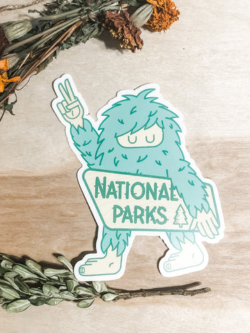 National parks yeti sticker