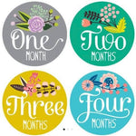 Monthly milestone stickers little artist floral