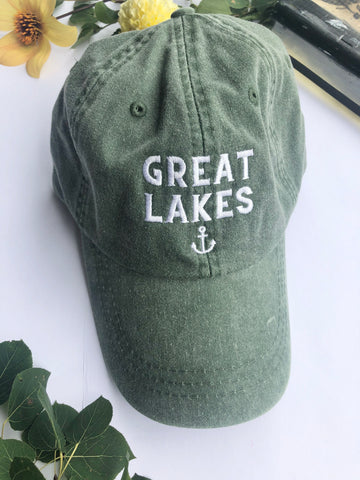 Green Great Lakes hat