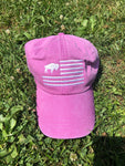 Purple buffalo flag hat