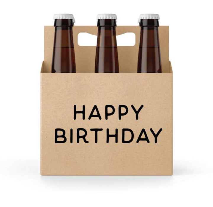 Celebration 6 pack beer holder  with candle