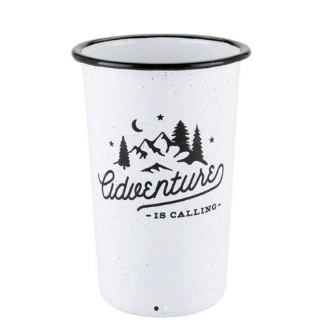Adventure enamel pint glass