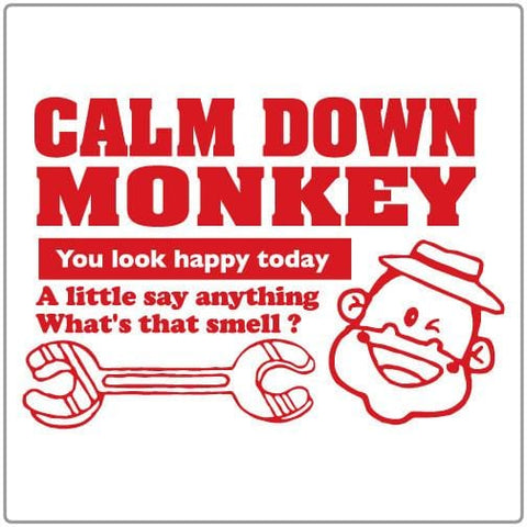 Calm Down Monkey - T-shirt