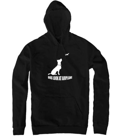 Dog Look at Airplane - Hoodie