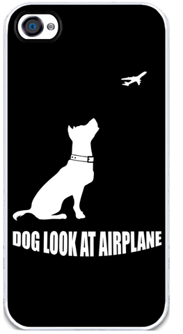 Dog Look at Airplane - iPhone 4 Case