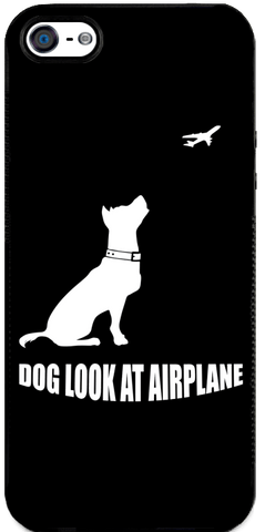 Dog Look at Airplane - iPhone 5 Case