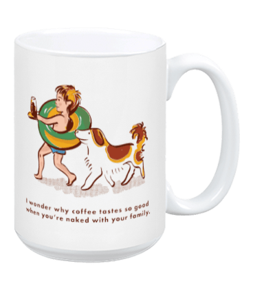 Naked with Family - Mug
