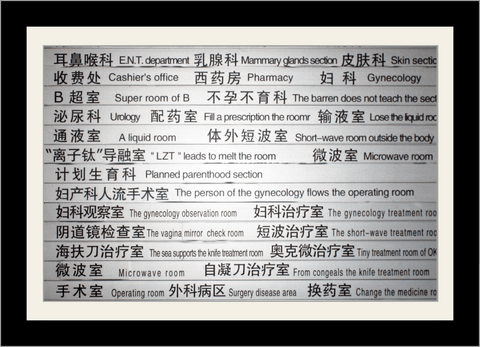 Chinese Hospital Directory - Poster