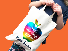Load image into Gallery viewer, Teach Encourage Inspire Apple Mini Tote Bag