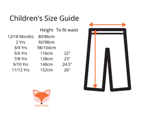 Trousers size guide