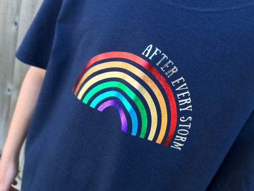 After every storm rainbow t-shirt
