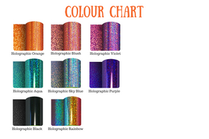 Holographic colour chart