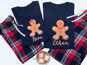 Gingerbread Christmas Family Matching Pyjamas
