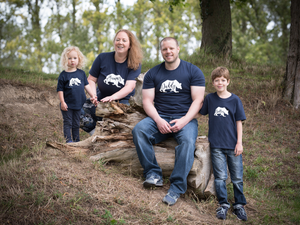 Mummy Bear, Daddy Bear, Sister Bear and Brother Bear T-shirts