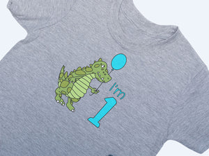 1st Birthday Dinosaur T-shirt
