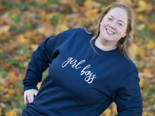 Load image into Gallery viewer, Girl boss sweatshirt, close up