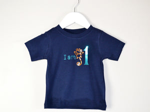 I am age monkey birthday t-shirt