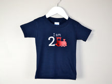 Load image into Gallery viewer, I am age train birthday t-shirt
