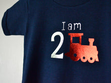 Load image into Gallery viewer, I am age train birthday t-shirt, close up