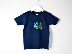 I am age robot birthday t-shirt