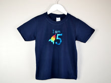 Load image into Gallery viewer, I am age rocket birthday t-shirt